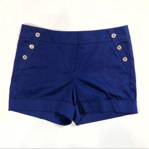 White House Black Market blue sailor cut shorts-8